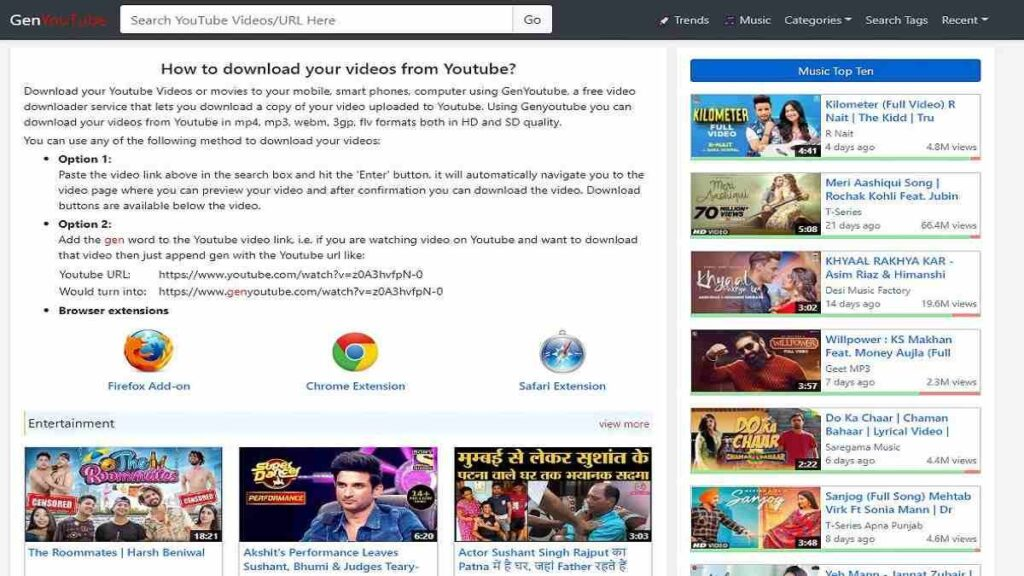 Genyoutube – Download Youtube Videos Online For Free